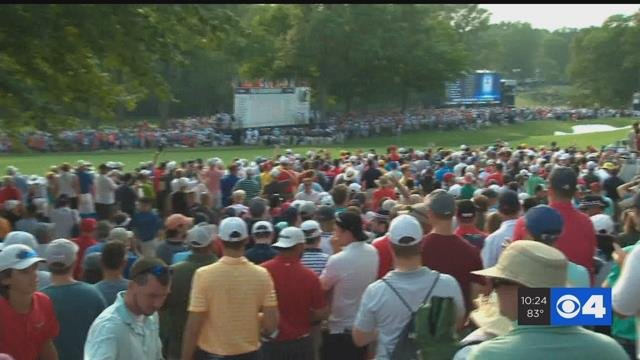 Officials estimated at least 55,000 people at Bellerive on Sunday.(Credit:KMOV)