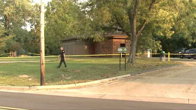 Police say a drug deal gone bad lead to a man being pistol-whipped, robbed and locked in a bathroom at Brentwood's Memorial Park. Credit: KMOV