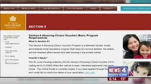 Section 8 housing website homepage