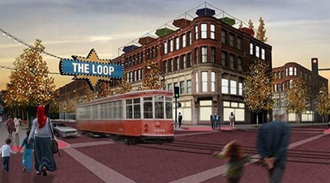 A rendering of the Loop Trolley