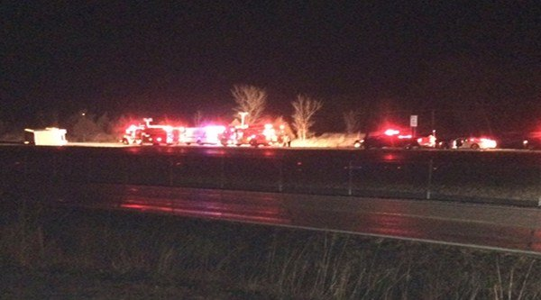 The eastbound lanes of Interstate 44 near mile marker 231 are closed after an early morning accident Wednesday.