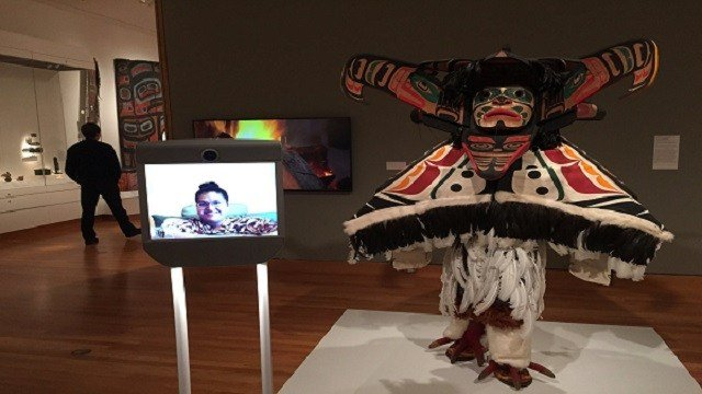 Kavita Krishnaswamy virtually visits the Seattle Art Museum using Beam, a product developed by Suitable Technologies. People who are disabled or bedridden can use Beam to explore museums they might never get to visit in person.