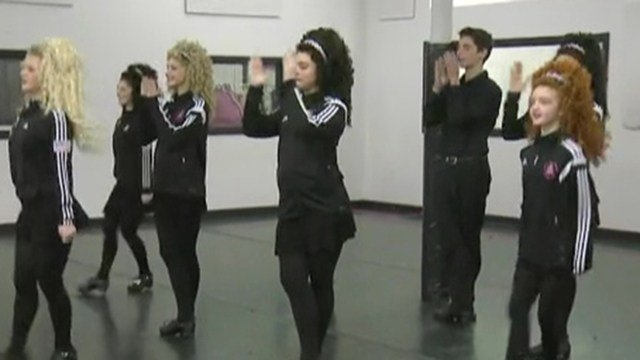 A group of Irish dancers gave Steve Harris a preview of the Mayors Shamrock Ball entertainment