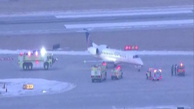A United Airlines flight was forced to stop on the runway after a malfunction Thursday