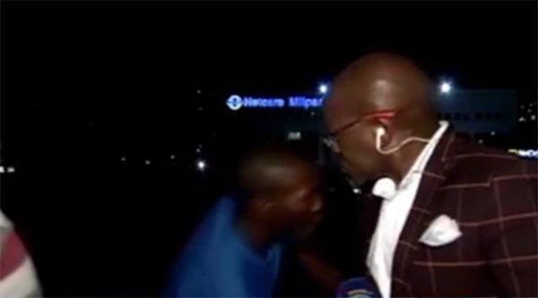 Vuyo Mvoko, a contributing editor at South African broadcaster SABC News, was ready with a news segment Tuesday night outside of Johannesburg's Millpark Hospital when the mugging occurred.