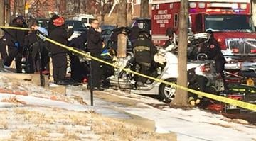 One person was killed and two others hospitalized a car slammed into a tree near the Compton Heights neighborhood in south St. Louis on Thursday. By Brendan Marks