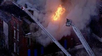 Firefighters arrived on the scene in the 4400 block of N. 20th St. and found flames shooting from the first and second floors. The flames then spread to the third floor and an evacuation order was given. By Brendan Marks