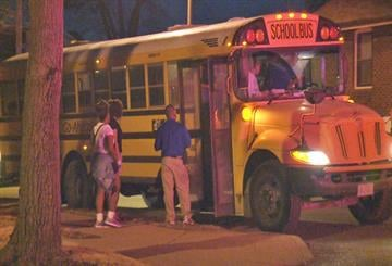 St. Louis Police investigate reports of a brick thrown through the window of a school bus in north St. Louis By KMOV Web Producer