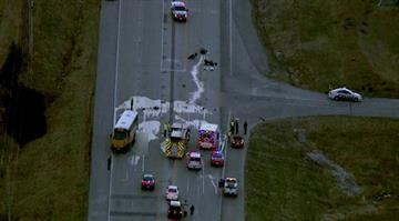 Police say a Wentzville school bus was leaving the bus depot on Highway A near Westgate Business Center when the crash happened just before 7 a.m. By Brendan Marks