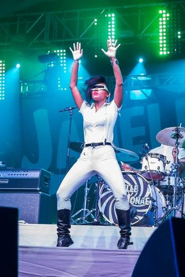 INDIO, CA - APRIL 20:  Singer Janelle Monae performs at 2013 Coachella Valley Music And Arts Festival - Weekend 2 at the Empire Polo Club on April 20, 2013 in Indio, California.  (Photo by Rich Polk/Getty Images for Coachella) By Rich Polk