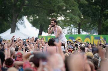 MANCHESTER, TN - JUNE 16:  Alex Ebert of Edward Sharpe and The Magnetic Zeros performs onstage during day 4 of the 2013 Bonnaroo Music & Arts Festival on June 16, 2013 in Manchester, Tennessee.  (Photo by Jason Merritt/Getty Images) By Jason Merritt