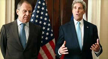 U.S. Secretary of State John Kerry, right, meets with the Russian foreign minister, Sergey Lavrov, at the U.S. ambassador's residence for talks on the political situation in Ukraine March 14, 2014, in London. By KMOV.com staff
