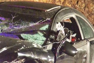 Car slams into rock cliff in Jeff Co. By KMOV Web Producer