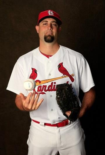 JUPITER, FL - FEBRUARY 24:  Pat Neshek #41 of the St. Louis Cardinals poses for a portrait during photo day at Roger Dean Stadium on February 24, 2014 in Jupiter, Florida.  (Photo by Rob Carr/Getty Images) By Rob Carr