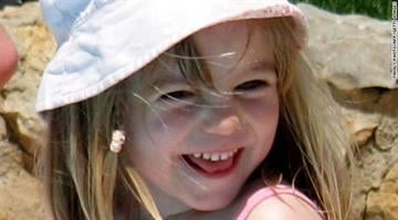 Madeleine McCann is shown on May 3, 2007, the day she went missing in Portugal's southern Algarve region. By Stephanie Baumer