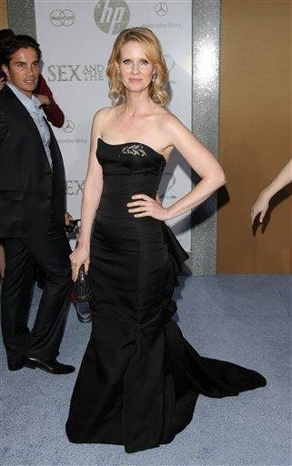 """Actress Cynthia Nixon attends the premiere of """"Sex And The City 2"""" at Radio City Music Hall in New York on Monday, May 24, 2010. (AP Photo/Peter Kramer) By Peter Kramer"""