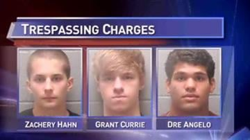 Zachery Hahn, Grant Currie and Dre Angelo are charged in connection to a senior prank at Jersey Community High School