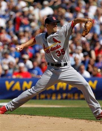 St Louis Cardinals' starting pitcher Adam Ottavino pitches to the Chicago Cubs' Kosuke Fukudome in the 1st inning in a baseball game on Saturday, May 29, 2010, in Chicago. (AP Photo/Charles Cherney) By Charles Cherney