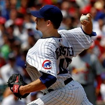 Chicago Cubs starting pitcher Ryan Dempster delivers during the first inning against the St. Louis Cardinals in a baseball game Sunday, May 30, 2010, in Chicago. (AP Photo/John Smierciak) By John Smierciak