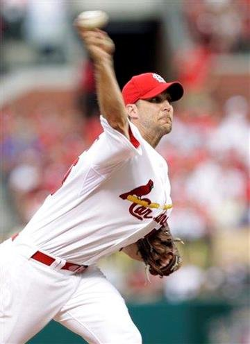 St. Louis Cardinals starting pitcher Adam Wainwright throws in the second inning of a baseball game against the Milwaukee Brewers, Friday, June 4, 2010, in St. Louis. (AP Photo/Tom Gannam) By Tom Gannam