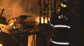 Firefighters battled a blaze in the 900 block of Washington Park around 1 a.m. Monday By Stephanie Baumer