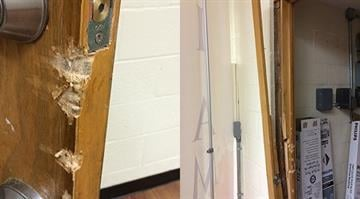 Two churches that share a building were broken into and robbed Wednesday in Jennings, Missouri. By Stephanie Baumer