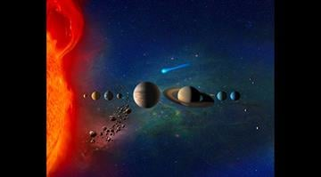 This graphic depicts the solar system. By Stephanie Baumer