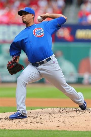 ST. LOUIS, MO - AUGUST 30: Starter Felix Doubront #22 of the Chicago Cubs pitches against the St. Louis Cardinals in the first inning at Busch Stadium on August 30, 2014 in St. Louis, Missouri.  (Photo by Dilip Vishwanat/Getty Images) By Dilip Vishwanat