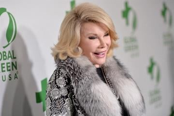 HOLLYWOOD, CA - FEBRUARY 26:  Comedian Joan Rivers attends Global Green USA's 11th Annual Pre-Oscar party at Avalon on February 26, 2014 in Hollywood, California.  (Photo by Alberto E. Rodriguez/Getty Images for GLOBAL GREEN USA) By Alberto E. Rodriguez