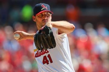 ST. LOUIS, MO - AUGUST 31: Starter John Lackey #41 of the St. Louis Cardinals pitches against the Chicago Cubs in the first inning at Busch Stadium on August 31, 2014 in St. Louis, Missouri.  (Photo by Dilip Vishwanat/Getty Images) By Dilip Vishwanat
