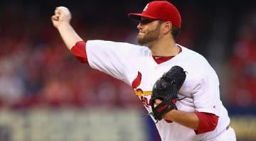 ST. LOUIS, MO - AUGUST 5: Starter Lance Lynn #31 of the St. Louis Cardinals pitches against the Boston Red Sox in the first inning at Busch Stadium on August 5, 2014 in St. Louis, Missouri.  (Photo by Dilip Vishwanat/Getty Images) By Dilip Vishwanat