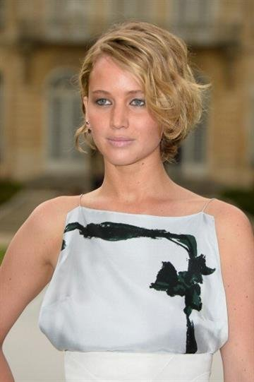 PARIS, FRANCE - JULY 07:  Jennifer Lawrence attends the Christian Dior show as part of Paris Fashion Week - Haute Couture Fall/Winter 2014-2015 on July 7, 2014 in Paris, France.  (Photo by Pascal Le Segretain/Getty Images) By Pascal Le Segretain