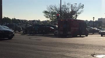 Emergency crews are on the scene after an elderly man in a wheelchair was struck by a vehicle Wednesday morning in North City. By Stephanie Baumer