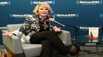 NEW YORK, NY - JUNE 30: SiriusXM's Unmasked Special With Joan Rivers at SiriusXM on June 30, 2014 in New York City. (Photo by Robin Marchant/Getty Images for Sirius XM) By Robin Marchant / Stringer