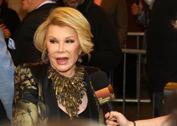 """NEW YORK, NY - APRIL 06:  Joan Rivers attends the """"The Realistic Joneses"""" opening night at The Lyceum Theater on April 6, 2014 in New York City.  (Photo by Astrid Stawiarz/Getty Images) By Astrid Stawiarz"""