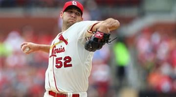 ST. LOUIS, MO - MAY 31: Starter Michael Wacha #52 of the St. Louis Cardinals pitches against the San Francisco Giants in the first inning at Busch Stadium on May 31, 2014 in St. Louis, Missouri.  (Photo by Dilip Vishwanat/Getty Images) By Dilip Vishwanat