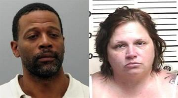 Stacey Graham and Christopher Boker are accused of sealing cash, cell phones, iPads, iPad minis, and other electronic devices from an AT&T store in Wood River, Illinois. By Stephanie Baumer