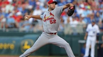 KANSAS CITY, MO - JUNE 5:  Michael Wacha #52 of the St. Louis Cardinals throws in the first inning against the Kansas City Royals at Kauffman Stadium on June 5, 2014 in Kansas City, Missouri. (Photo by Ed Zurga/Getty Images) By Ed Zurga