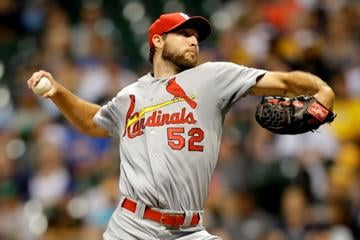 MILWAUKEE, WI - SEPTEMBER 04: Michael Wacha #52 of the St. Louis Cardinals pitches during the first inning against the Milwaukee Brewers at Miller Park on September 04, 2014 in Milwaukee, Wisconsin. (Photo by Mike McGinnis/Getty Images) By Mike McGinnis