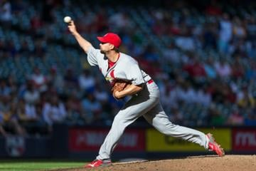 MILWAUKEE, WI - SEPTEMBER 7: Adam Wainwright #50 of the St. Louis Cardinals pitches a complete game against the Milwaukee Brewers at Miller Park on September 7, 2014 in Milwaukee, Wisconsin. (Photo by Tom Lynn/Getty Images) By Tom Lynn