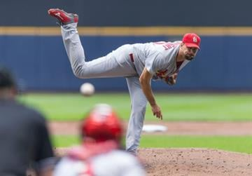 MILWAUKEE, WI - SEPTEMBER 7:  Adam Wainwright #50 of the St. Louis Cardinals pitches to a Milwaukee Brewers batter at Miller Park on September 7, 2014 in Milwaukee, Wisconsin.  (Photo by Tom Lynn/Getty Images) By Tom Lynn