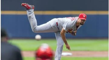 MILWAUKEE, WI - SEPTEMBER 7:  Adam Wainwright #50 of the St. Louis Cardinals pitches to a Milwaukee Brewers batter at Miller Park on September 7, 2014 in Milwaukee, Wisconsin.  (Photo by Tom Lynn/Getty Images) By Adam McDonald