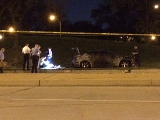 One person was found dead with a gunshot wound to his stomach after a car fire in west St. Louis Sunday night. By Adam McDonald