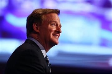 NEW YORK, NY - MAY 08:  NFL Commissioner Roger Goodell looks on prior to the start of the first round of the 2014 NFL Draft at Radio City Music Hall on May 8, 2014 in New York City.  (Photo by Elsa/Getty Images) By Elsa