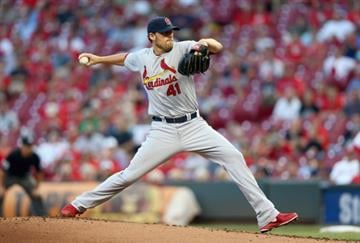 CINCINNATI, OH - SEPTEMBER 10:  John Lackey #41 of the St. Louis Cardinals throws a pitch during the game against the Cincinnati Reds at Great American Ball Park on September 10, 2014 in Cincinnati, Ohio.  (Photo by Andy Lyons/Getty Images) By Andy Lyons
