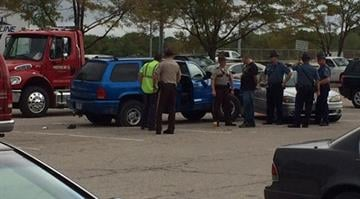 A man is in custody after a police pursuit Thursday morning. By Stephanie Baumer