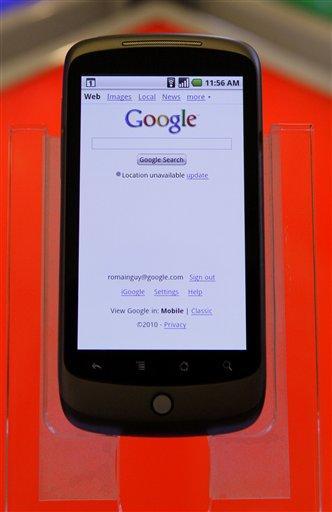 The Nexus One phone from Google Inc. is shown at a demo in Mountain View, Calif., Tuesday, Jan. 5, 2010. (AP Photo/Jeff Chiu) By Jeff Chiu