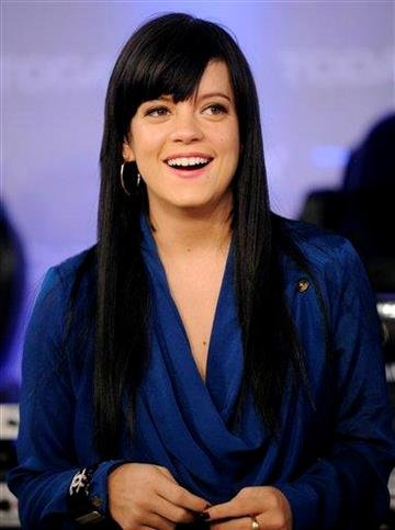 "FILE - This is a  Tuesday Feb. 10, 2009 file photo of British pop singer Lily Allen as she appears on the NBC ""Today"" television show, in New York.  (AP Photo/Richard Drew, File) By RICHARD DREW"