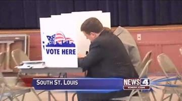 Republican Ed Martin casts his ballot in south St. Louis By Afton Spriggs