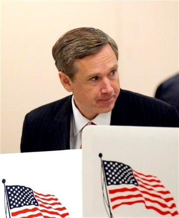 US Rep. Mark Kirk, R-Ill. votes at Highwood Community Center in Highwood, Ill., Tuesday, Nov. 2, 2010. Kirk is running to fill President Obama's old Illinois senate seat. (AP Photo/Lois Bernstein) By Lois Bernstein